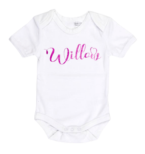 Heart Font Personalised Bodysuit