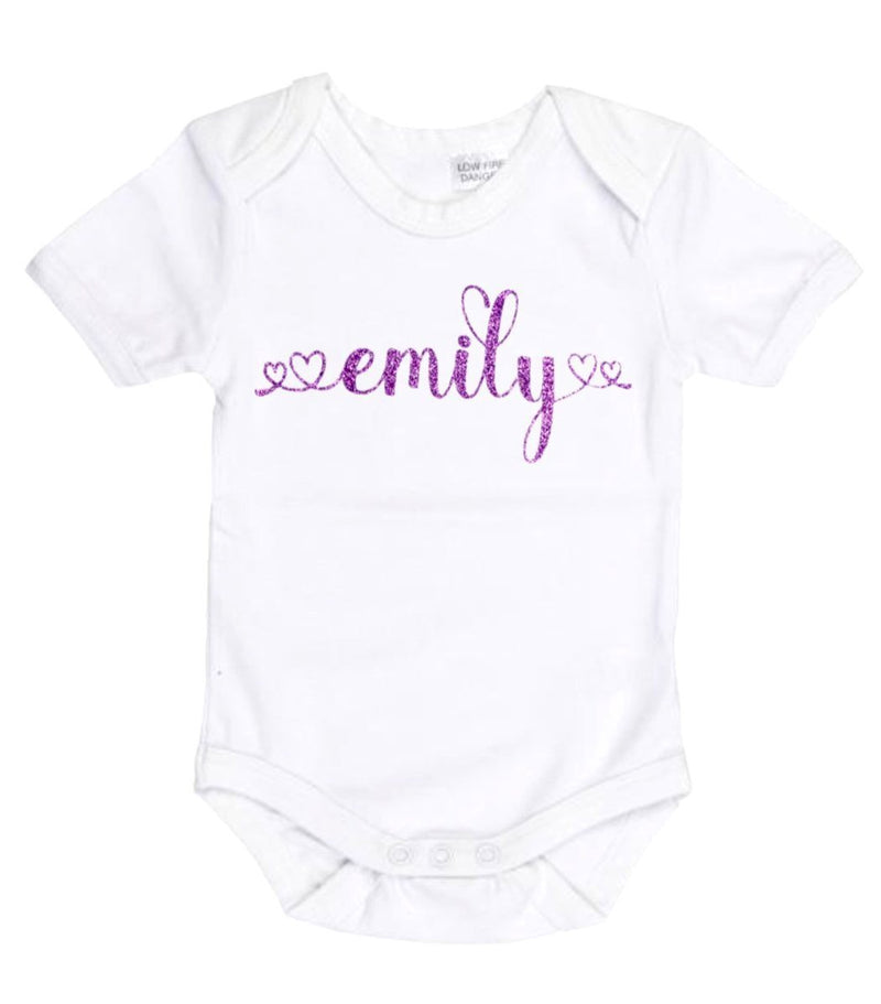 Love Font Personalised Bodysuit