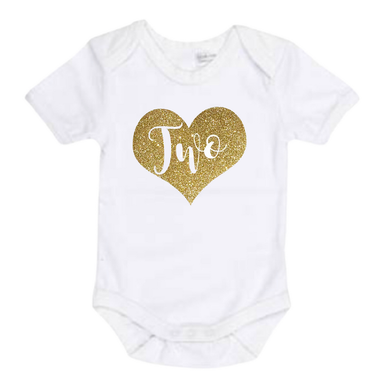 Heart Two - Gold - Lullaby Lane Design