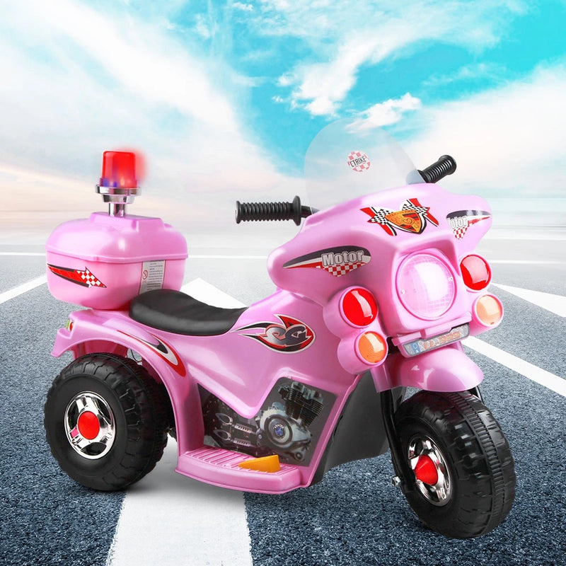 Soft Pink Ride on Electric Motorbike