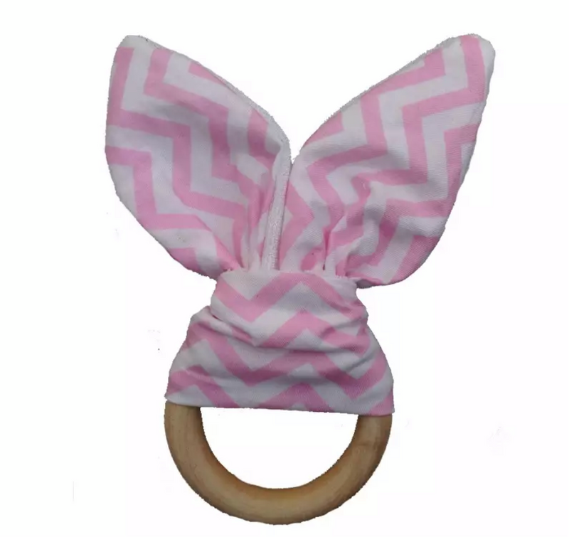 Bunny Ear Teether - Baby Pink