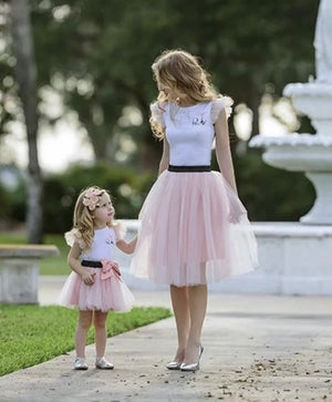 Mum and Me - Matching Pink Tulle Outfits