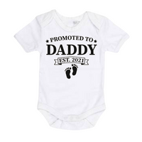 Promoted to Daddy 2021 - Matching Shirts - White