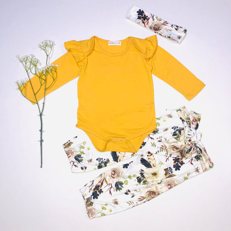 Yellow Floral Set