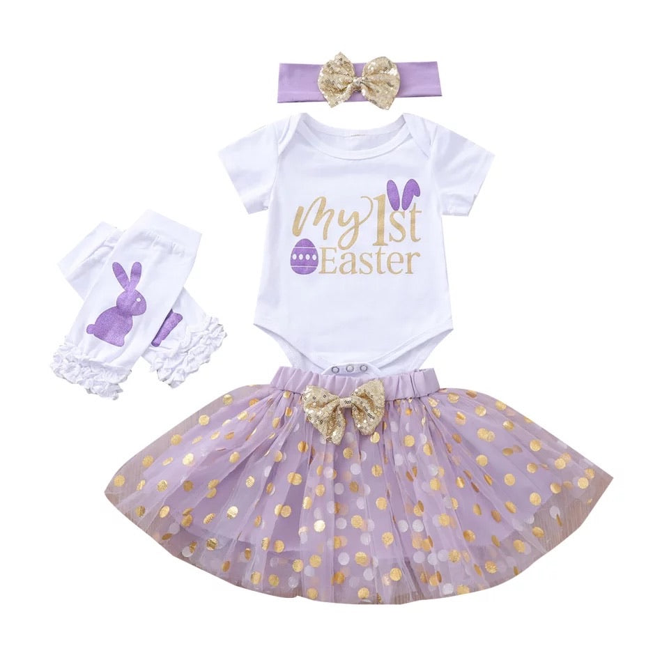 Purple First Easter Tutu Set