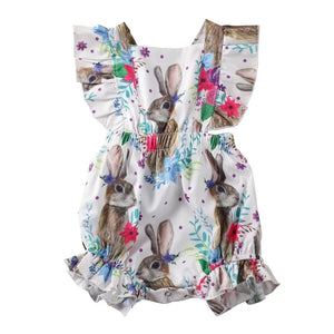 Frilly Rabbit Romper