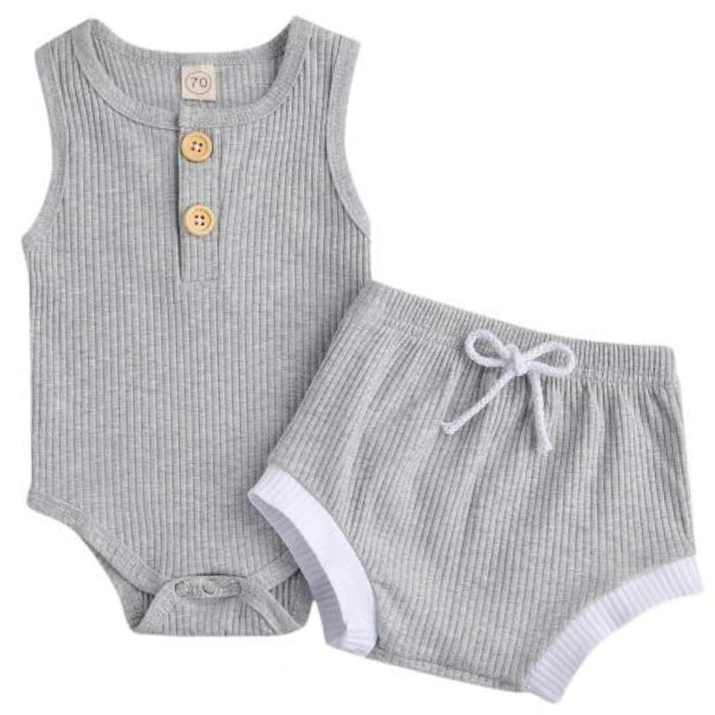 Chloe Romper & Shorts Deep Grey