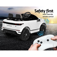 Licensed 4x4 Range Rover White Electric Car - With Remote