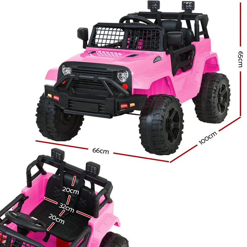 Pink Jeep Replica Electric Car - With Remote