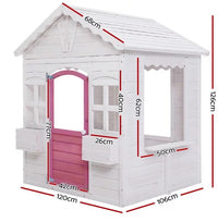 Rosies Pink & White Wooden Cubby House
