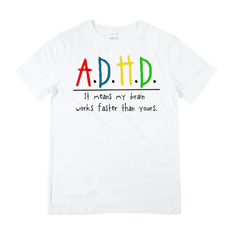 A.D.H.D - Colour in White