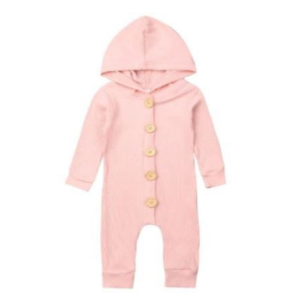 Pink Hooded Winter Suit Onesie