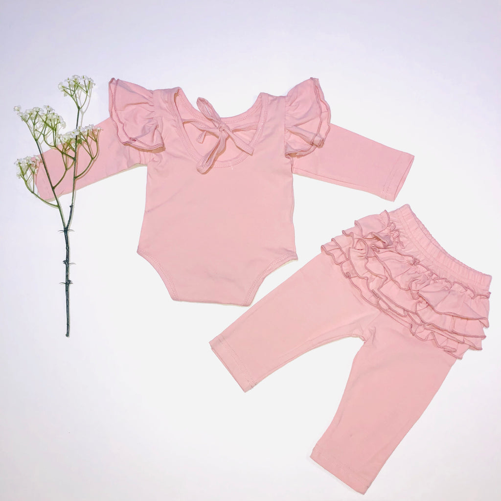 Pink Ruffled Set
