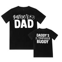 Gamer Dad / Buddy - Matching Shirts - Black