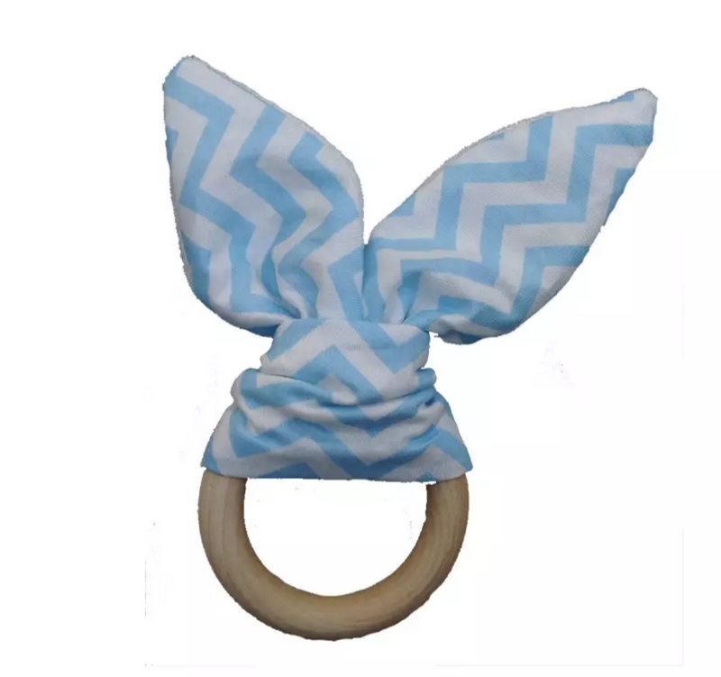 Bunny Ear Teether - Sky Blue
