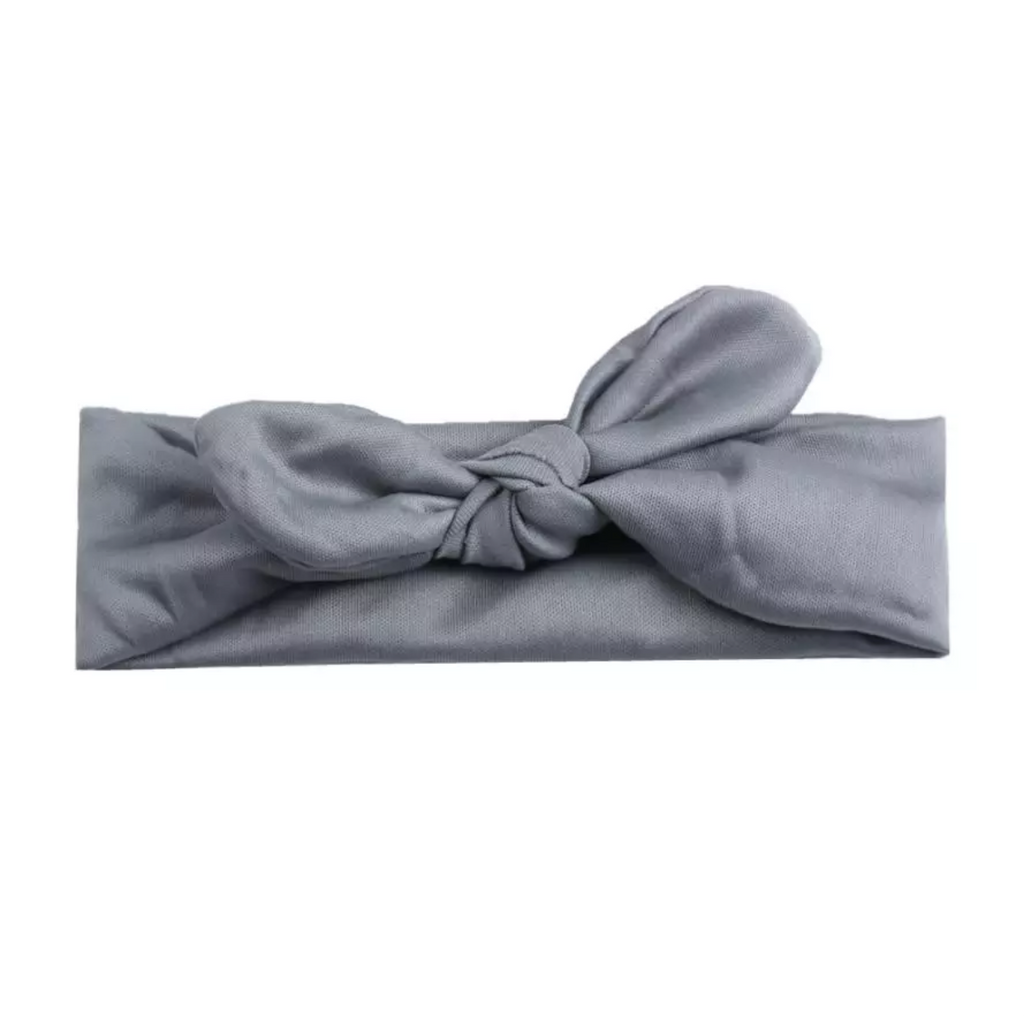 Gray Bowknot Basic Headband