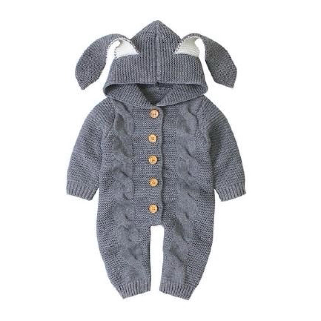 Gray Ear Snuggle Suit