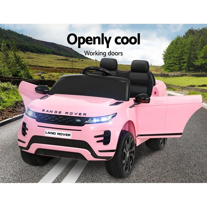 Licensed 4x4 Range Rover Pink Electric Car - With Remote