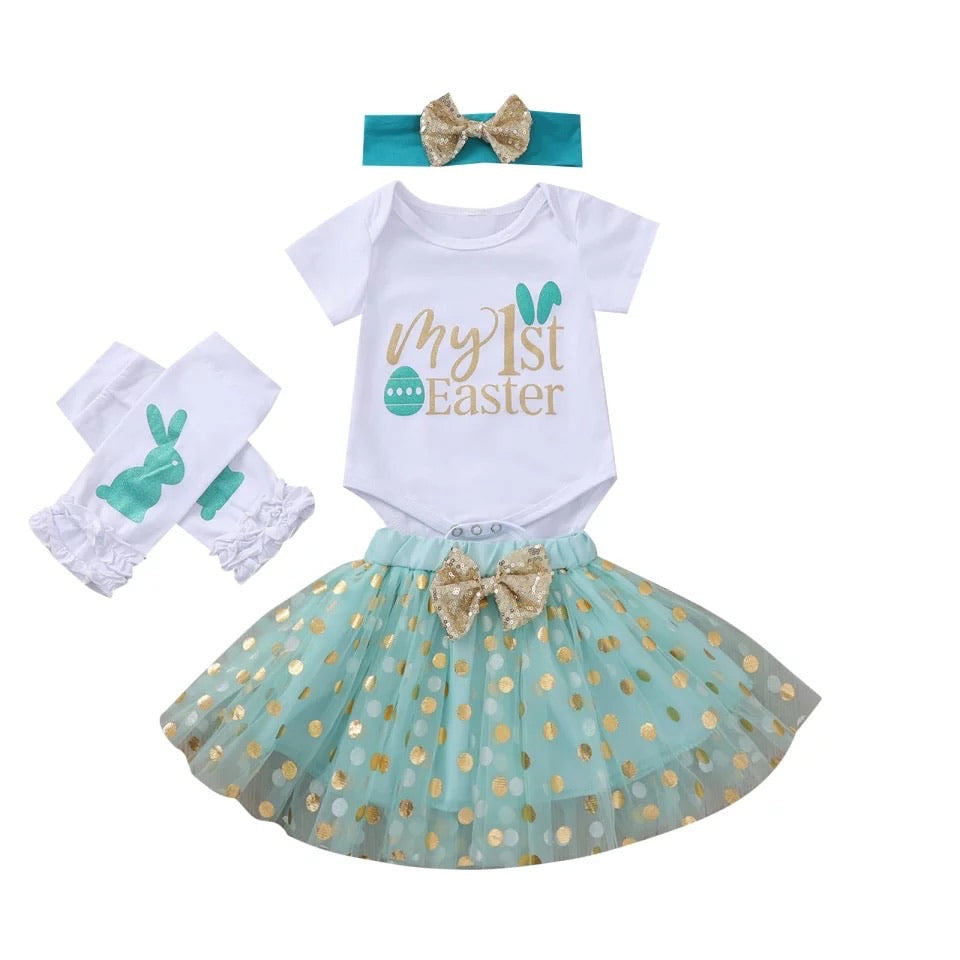 Mint First Easter Tutu Set