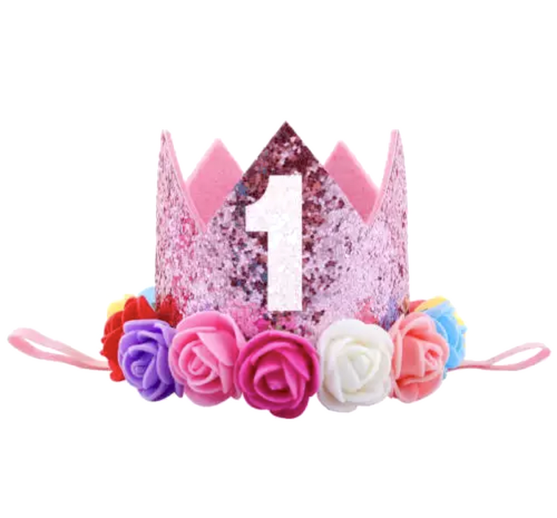 Rainbow 1 - First Birthday Crown
