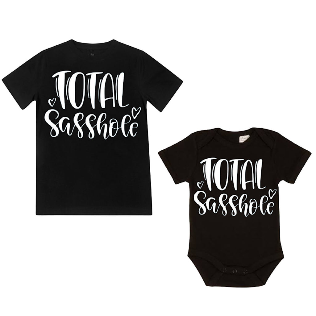 Total Sasshole Shirt / Bodysuit - Black