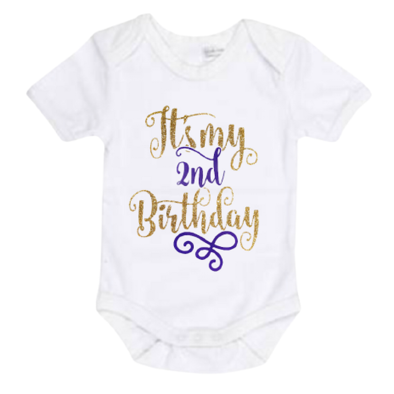 It's My 2nd Birthday Outfit - Purple - Lullaby Lane Design