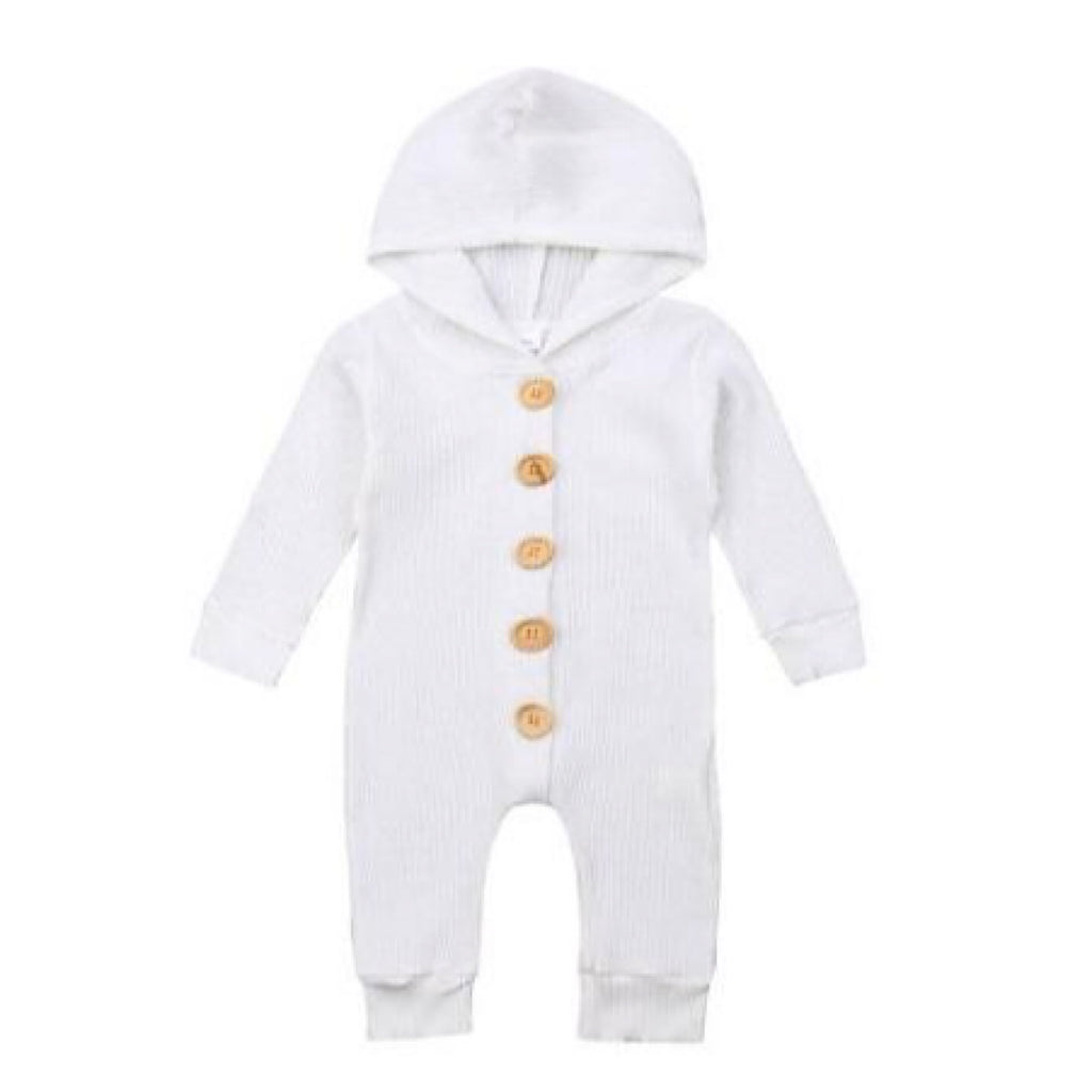White Hooded Winter Suit Onesie