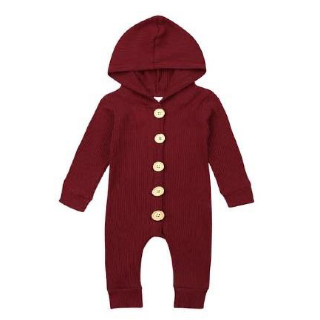 Mauve Hooded Winter Suit Onesie