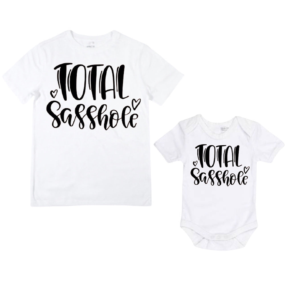 Total Sasshole Shirt / Bodysuit - White