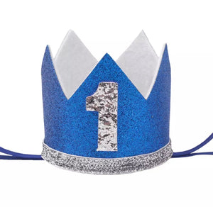Silver & Blue Birthday Crown