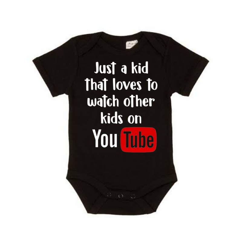 Just a Kid watching YouTube Shirt - Black