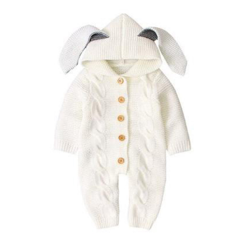 White Ear Snuggle Suit