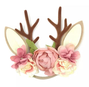 Christmas Blush Rose Headband