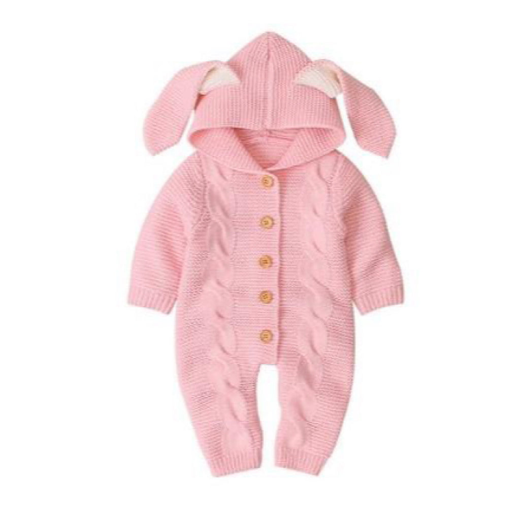 Pink Ear Snuggle Suit