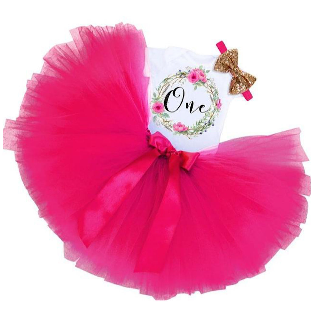 Pink Flower Birthday Dress