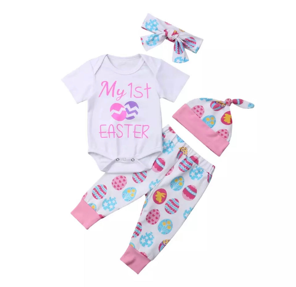 Pink First Easter Pants Set