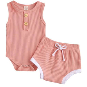 Chloe Romper & Shorts Peach