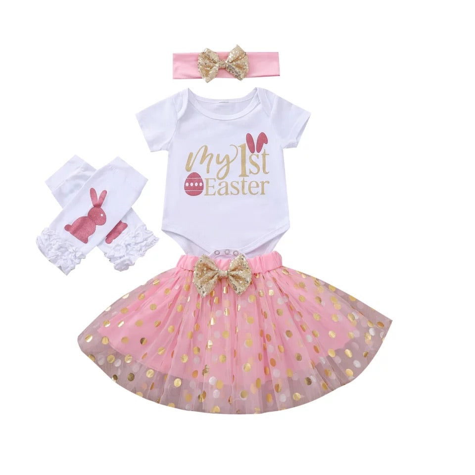 Pink First Easter Tutu Set