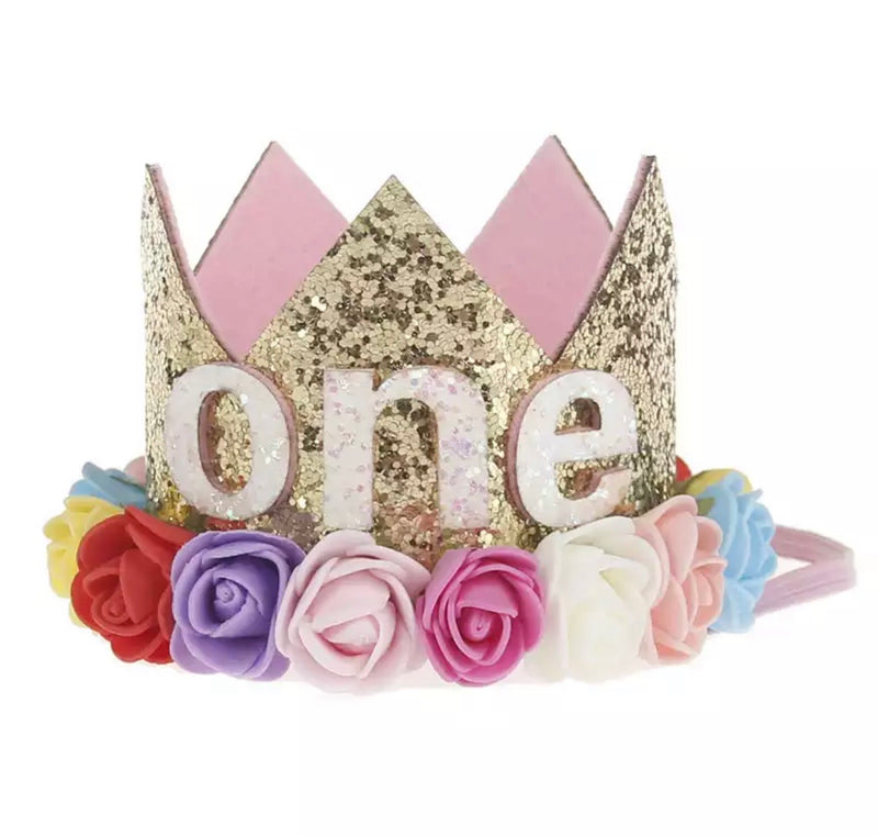 Playful ONE - First Birthday Crown