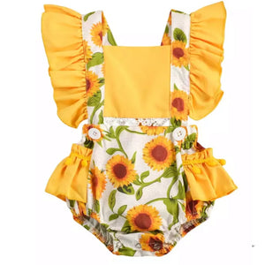 Yellow Sunflower Romper