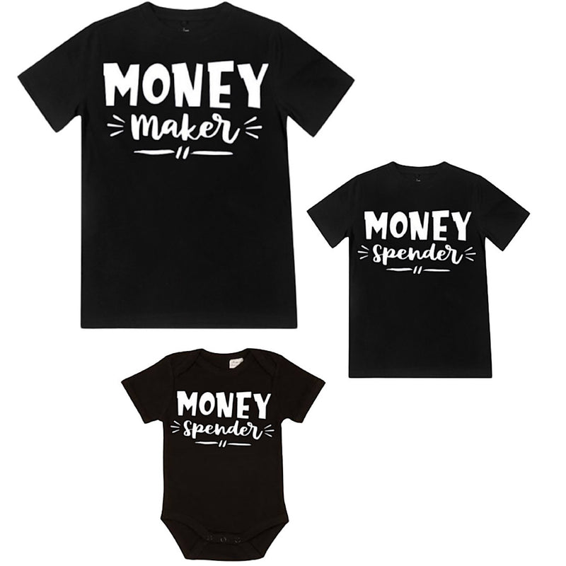 Money Maker / Money Spender - Matching Shirts - Black