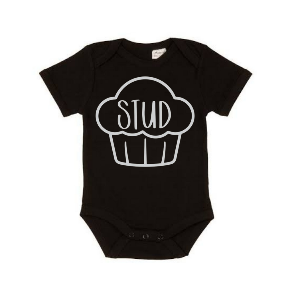 STUD Muffin Bodysuit - Black