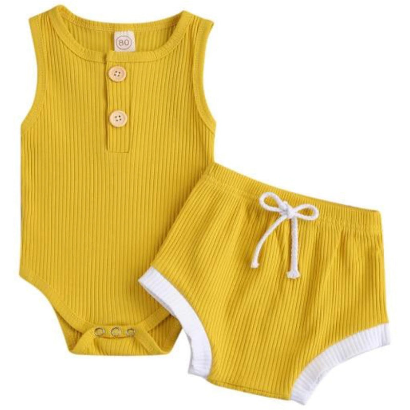 Chloe Romper & Shorts Yellow