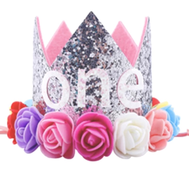 Silver Rainbow One - First Birthday Crown