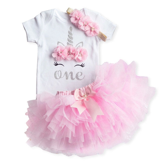 Pink Dreams Unicorn Birthday Outfit