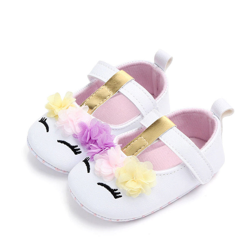 White Unicorn Birthday Shoes