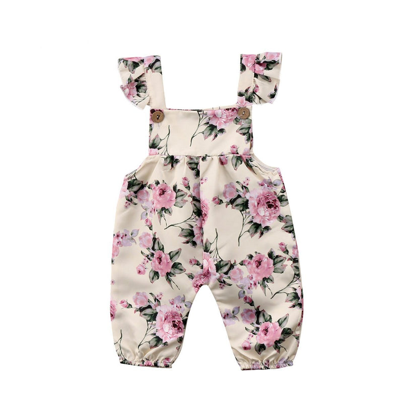 Cream Roses Jumpsuit