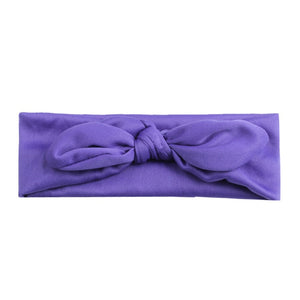 Purple Bowknot Basic Headband