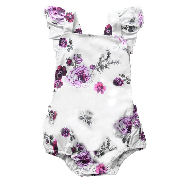Purple Flowers Romper