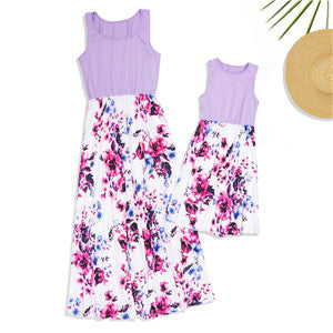 Floral matching dresses